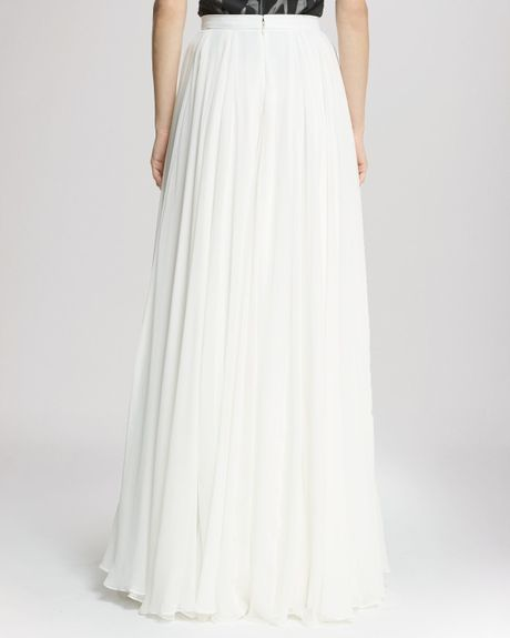 heritage skirt flowing maxi in white bone lyst