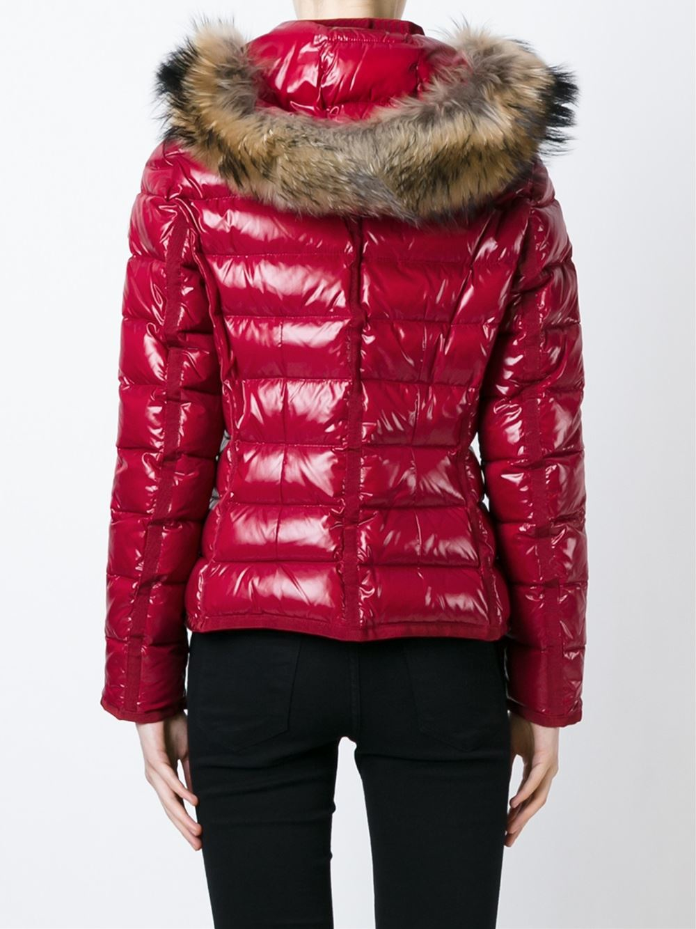 381d24b8d ... coupon code for lyst moncler armoise padded jacket in red e161c dc44c