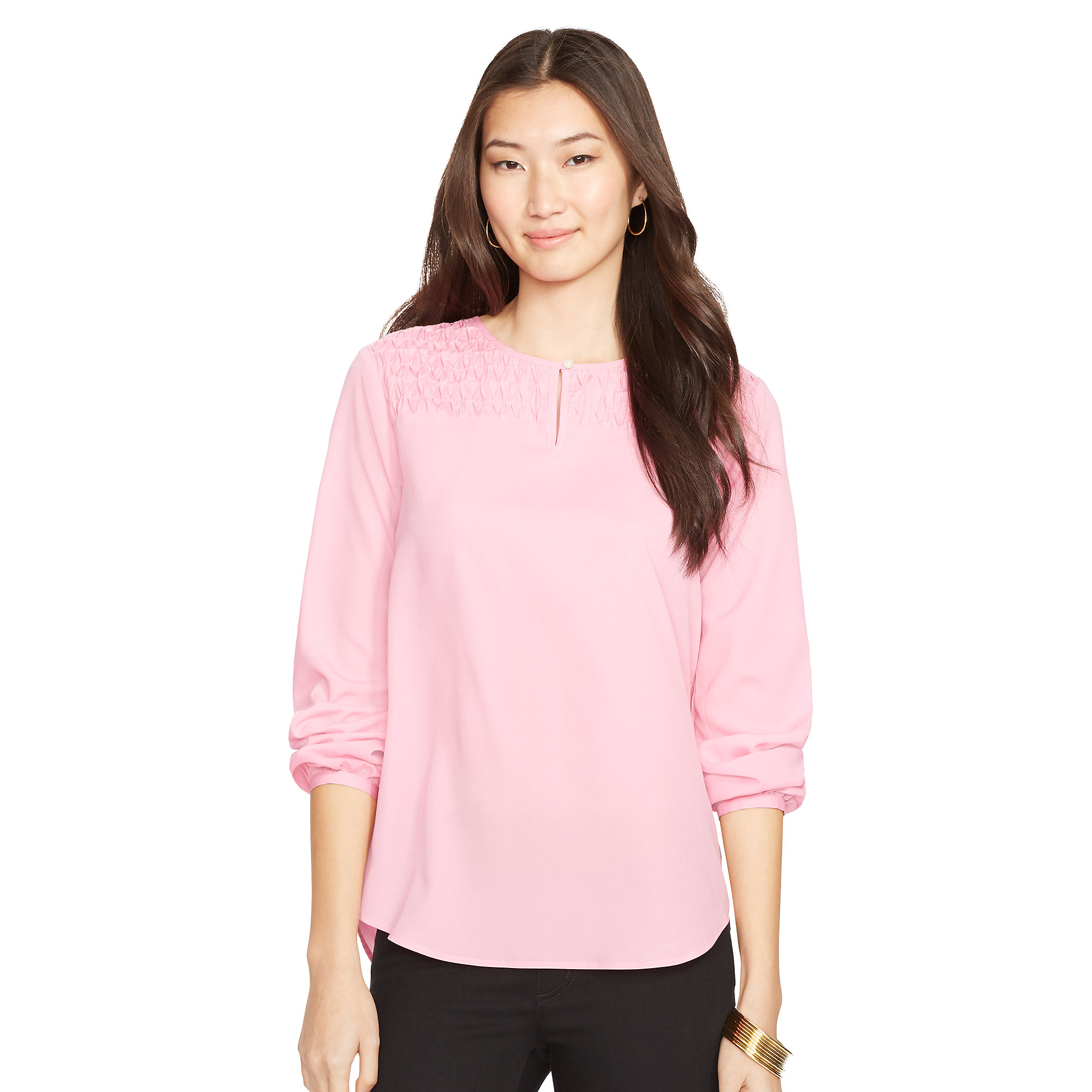ralph lauren keyhole sleeveless blouse in pink lyst. Black Bedroom Furniture Sets. Home Design Ideas