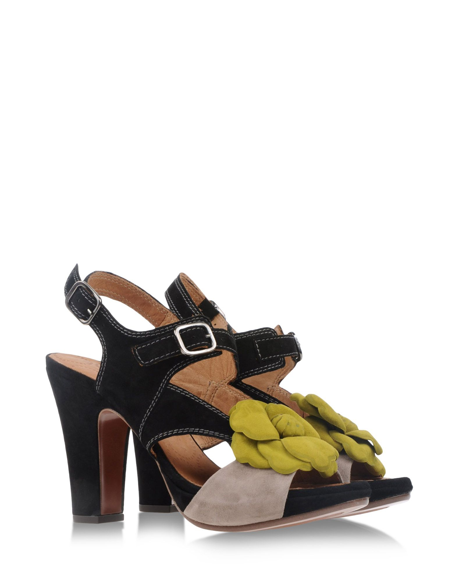 Chie Mihara Sandals In Yellow Black Lyst