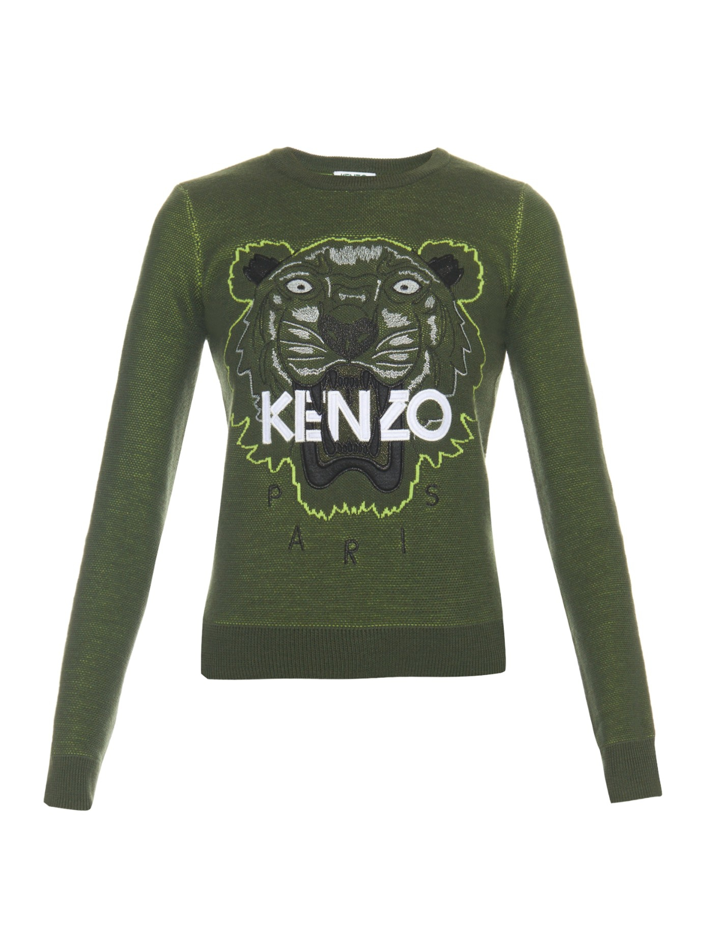 601cb1a2 KENZO Icons Tiger-embroidered Sweatshirt in Natural - Lyst