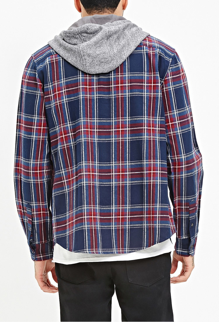 Hooded Flannel Shirts For Men