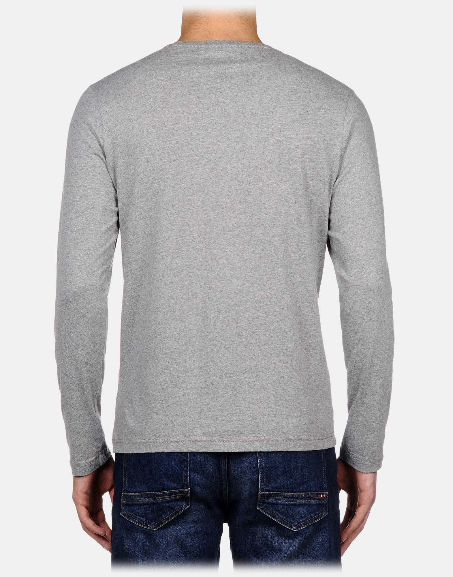 Lyst - Napapijri Long Sleeve T-shirt in Gray for Men