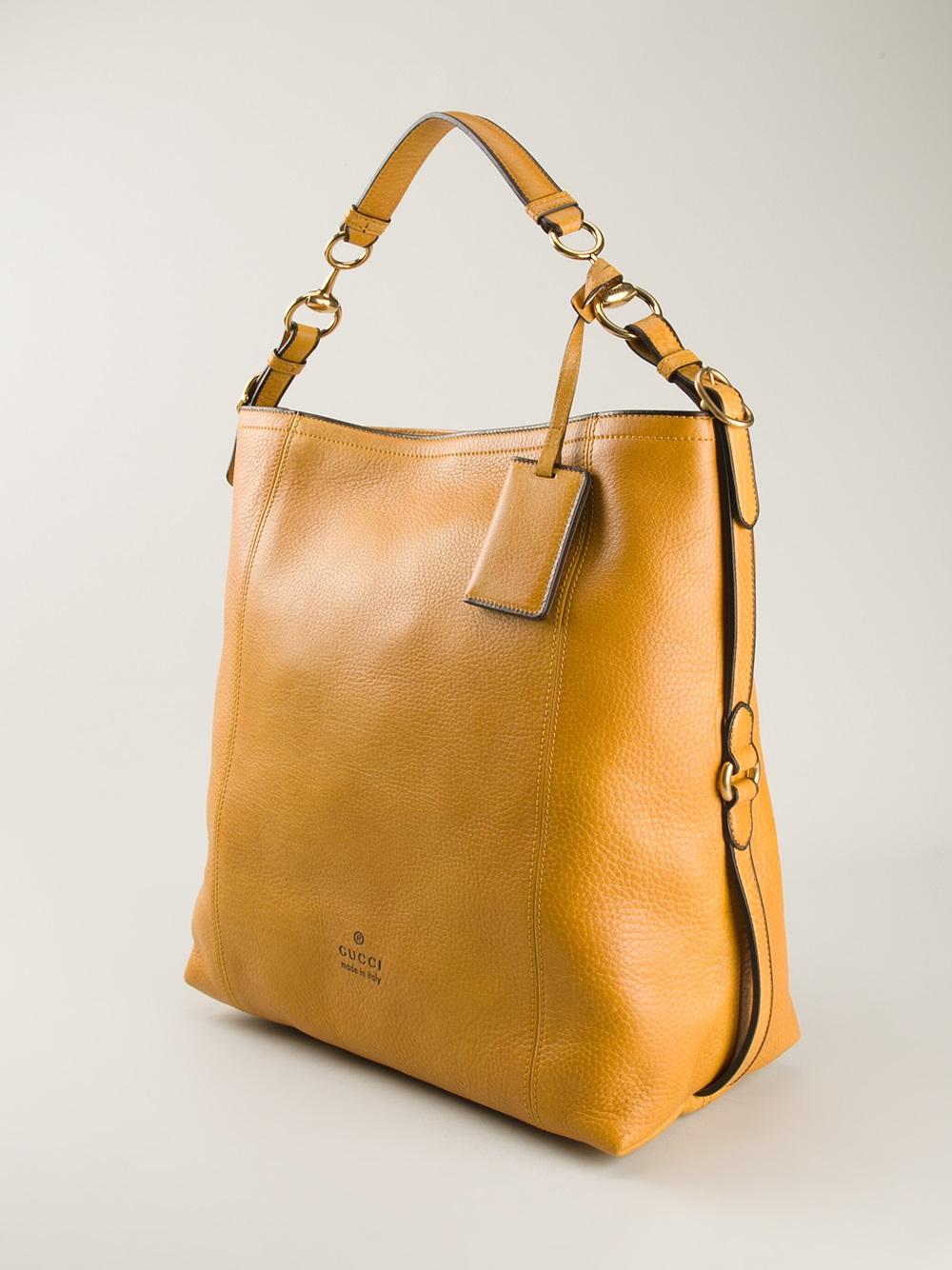 Lyst - Gucci Harness Hobo Bag in Yellow 3282a32b07c1e