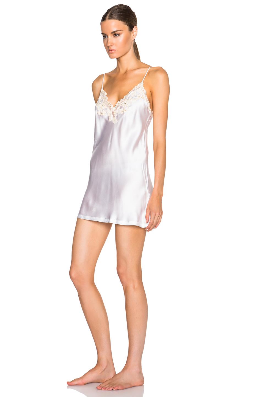 Lyst la perla maison slip dress in white for Lca maison