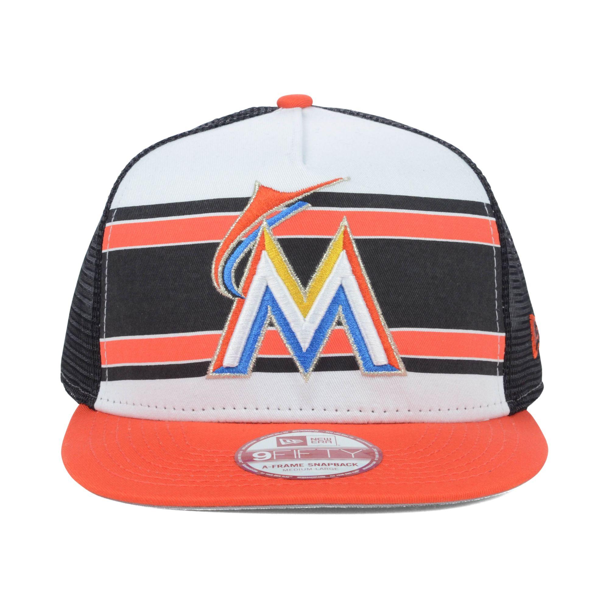 low priced f44e1 08436 KTZ Miami Marlins Mlb Band Slap 9fifty Snapback Cap for Men - Lyst