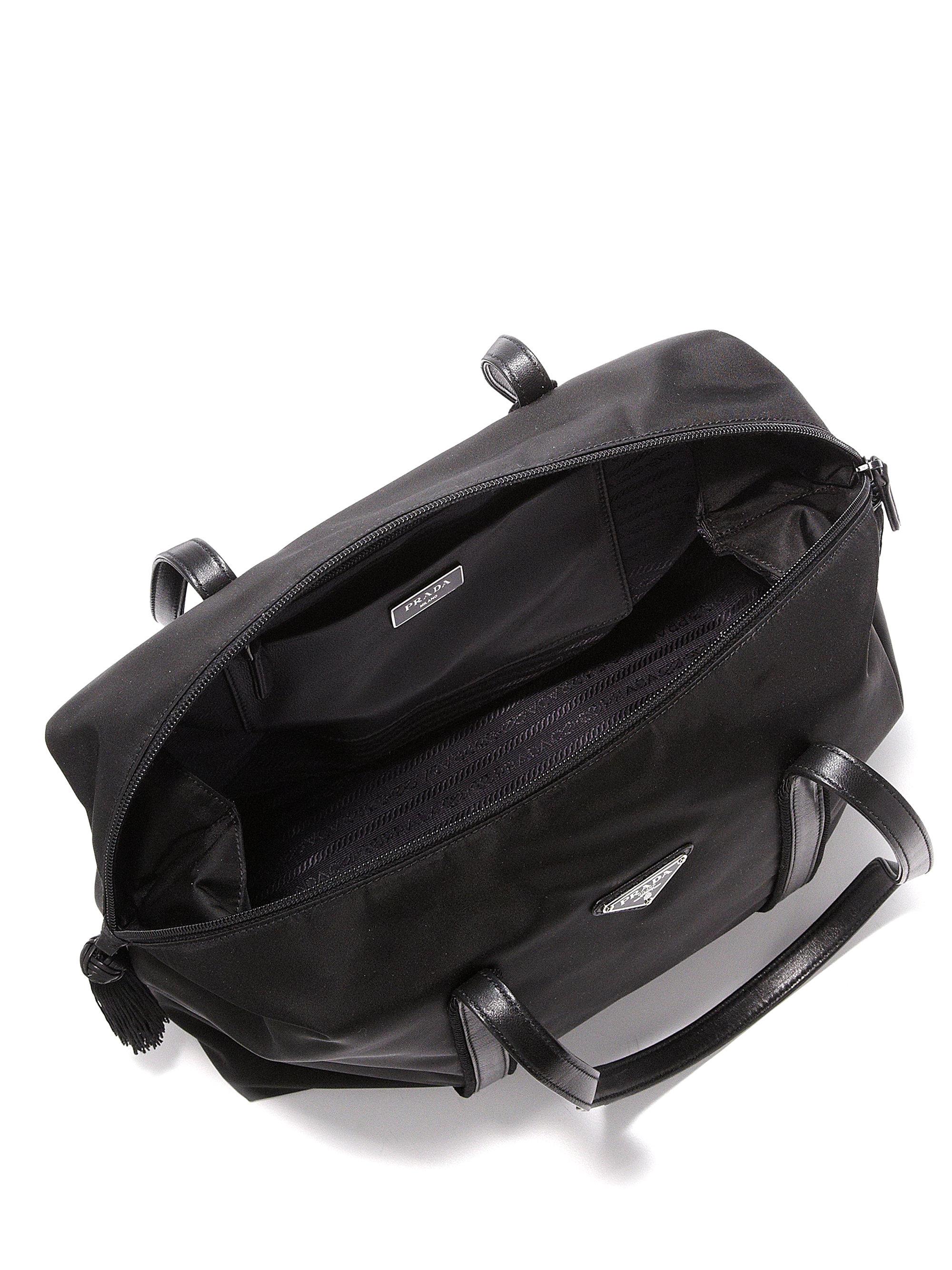 prada replica handbags wholesale - Prada Nylon \u0026amp; Calf Leather Tassel Duffle Bag in Black (nero) | Lyst