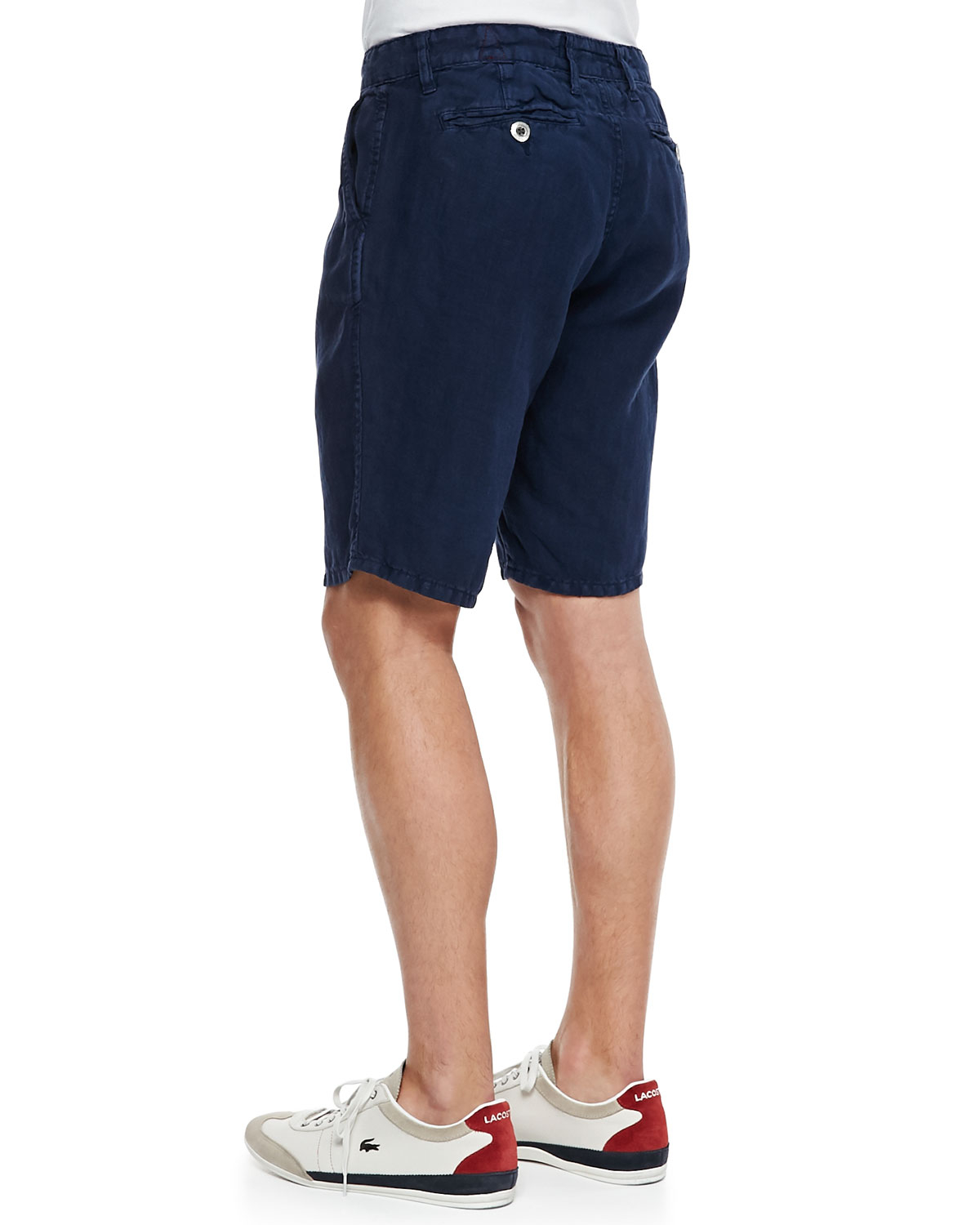 Navy Blue Linen Shorts Hardon Clothes