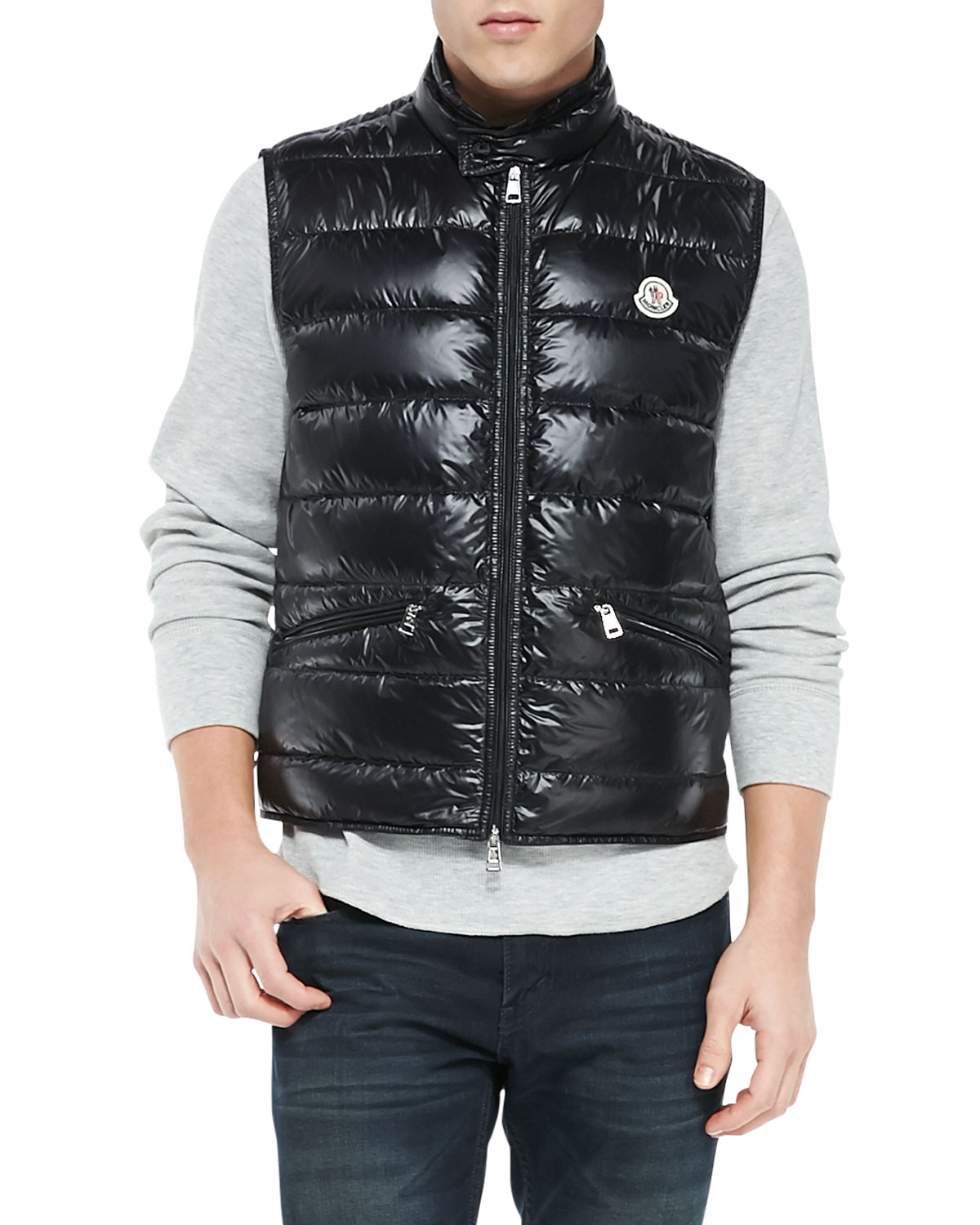 f93e98e9b2c3 Lyst - Moncler Gui Quilted Puffer Vest in Black for Men
