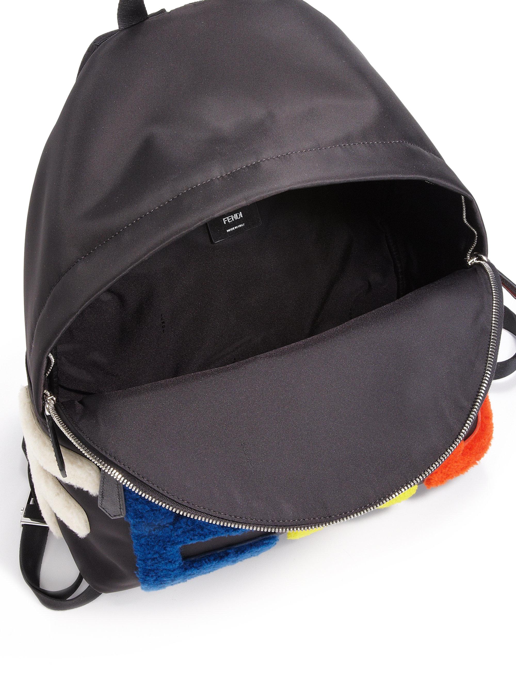 1e0496b0ca9 Lyst - Fendi Block Letter Backpack in Black for Men