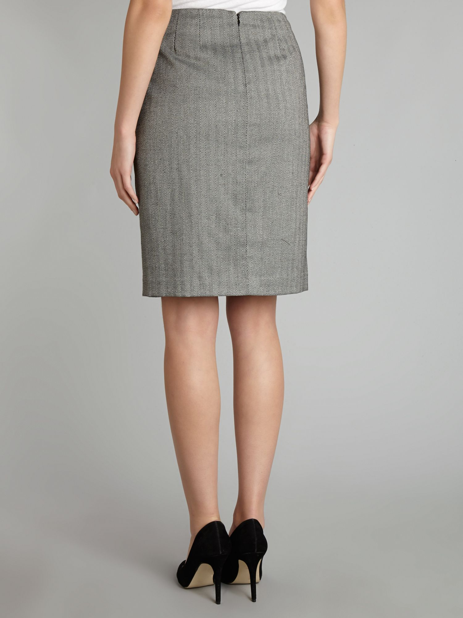 papell lace trim pencil skirt in black lyst