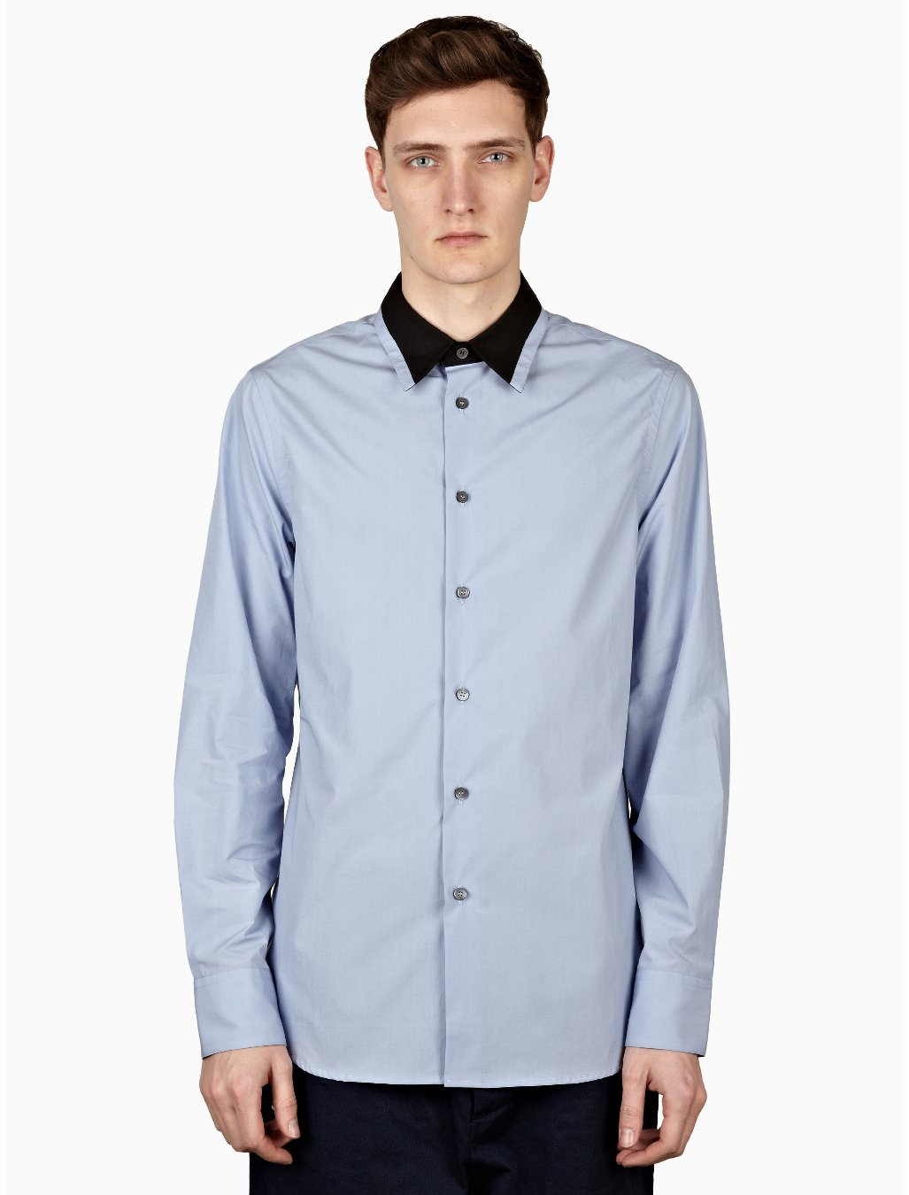Marni Mens Light Blue Long Sleeve Polo Shirt In Blue For