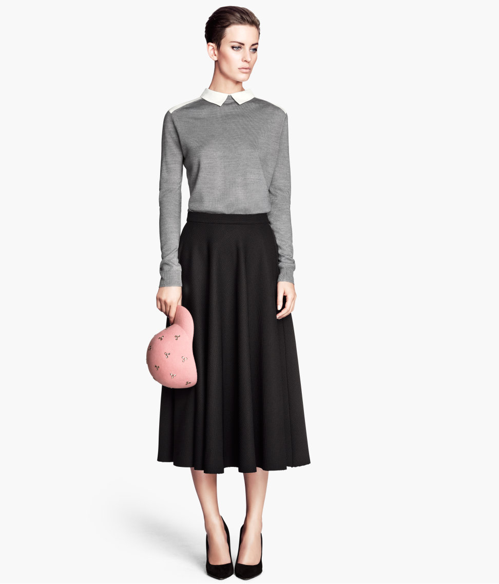 4da0703626 H&M Bellshaped Skirt in Black - Lyst