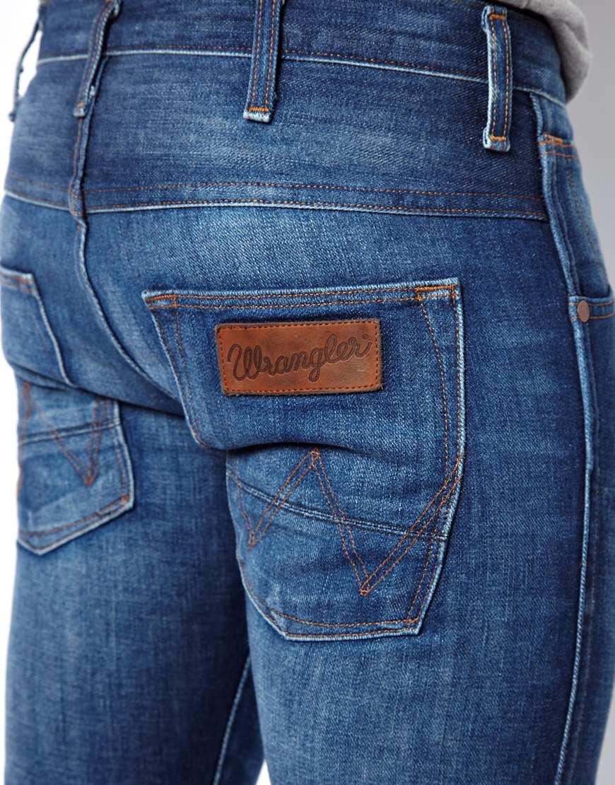 wrangler jeans spencer slim fit prairie dog wash in blue for men lyst. Black Bedroom Furniture Sets. Home Design Ideas