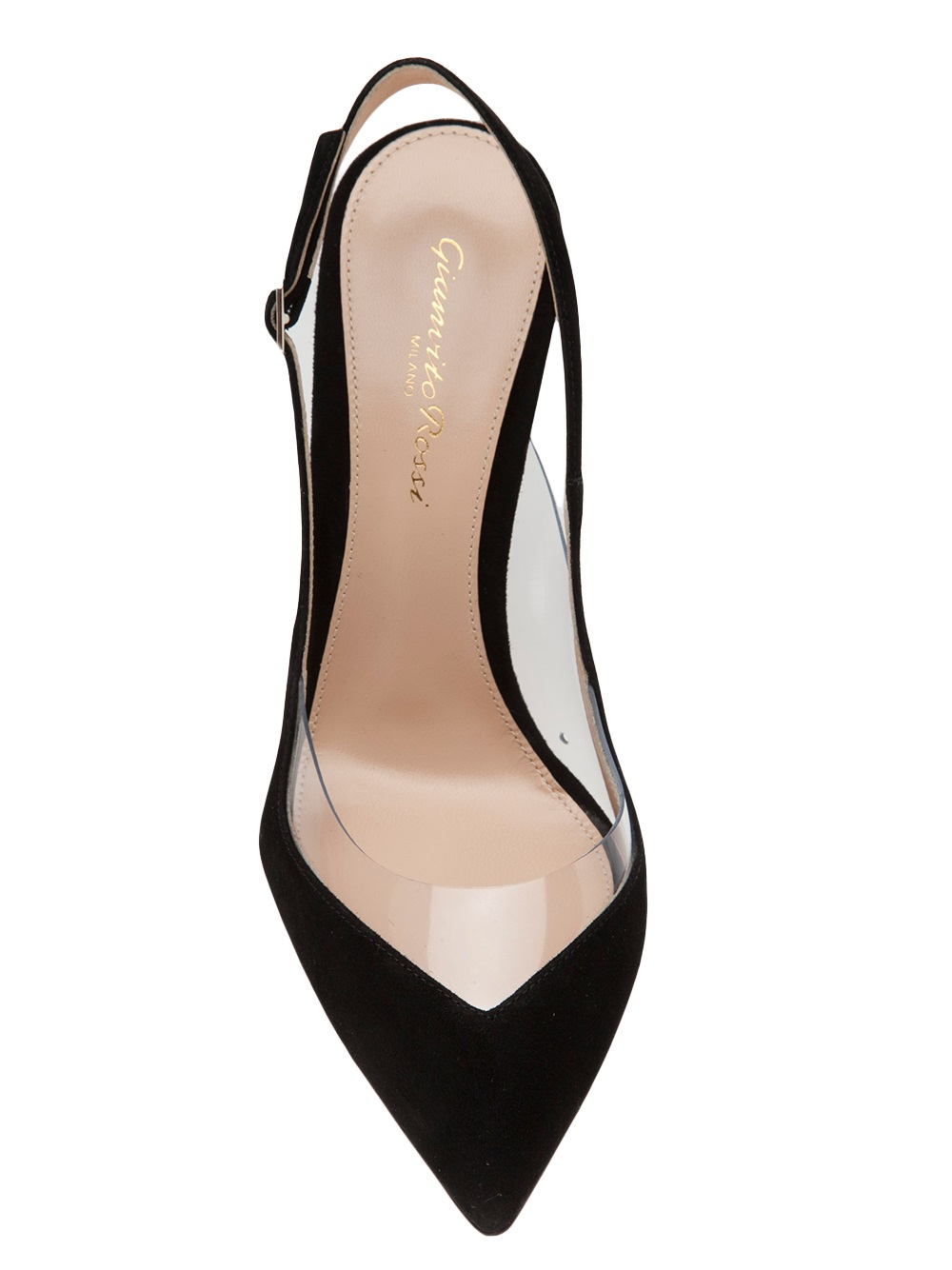 Lyst - Gianvito Rossi Slingback Kitten Heel in Black