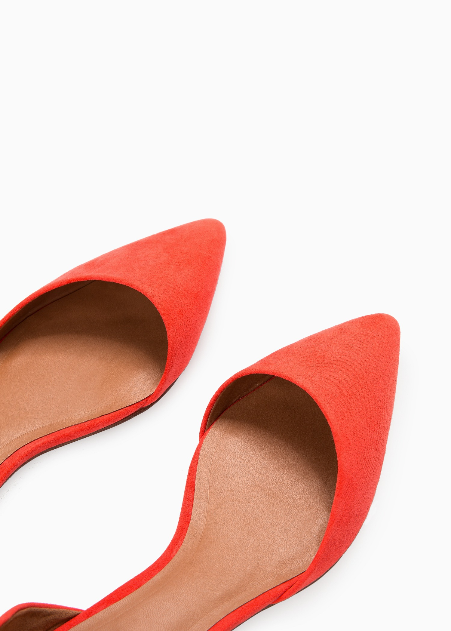 Lyst - Mango Pointed Toe Flat Shoes In Red