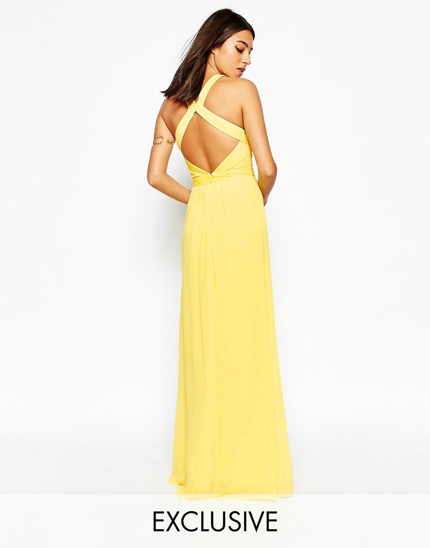 Maxi dress in yellow