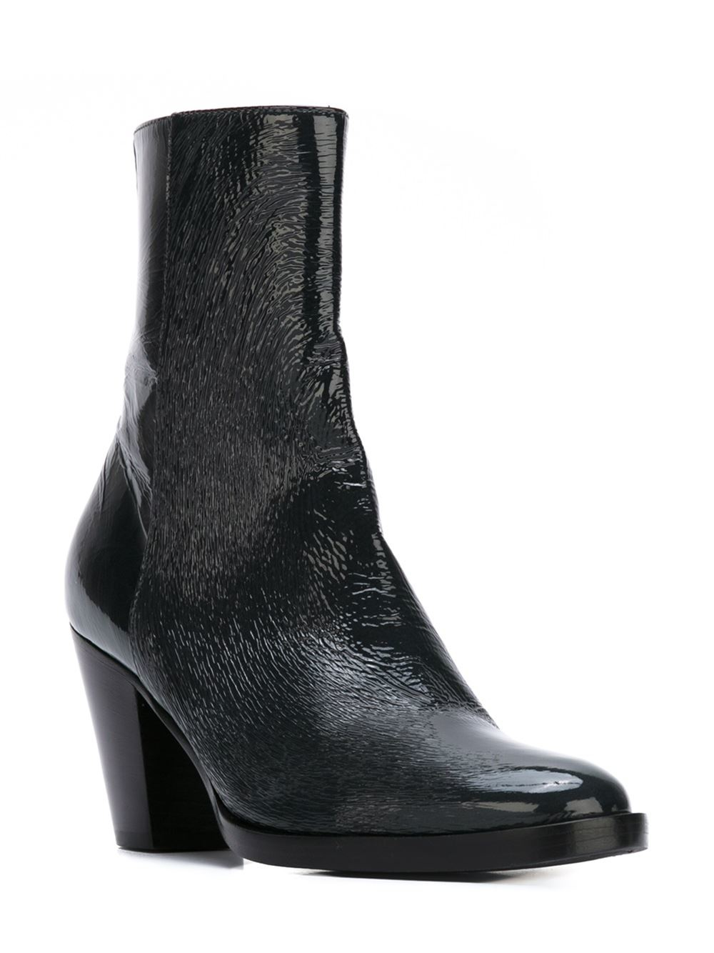 A.F.Vandevorst Mid Chunky Heel Ankle Boots in Gray - Lyst 4cd12d99cdc
