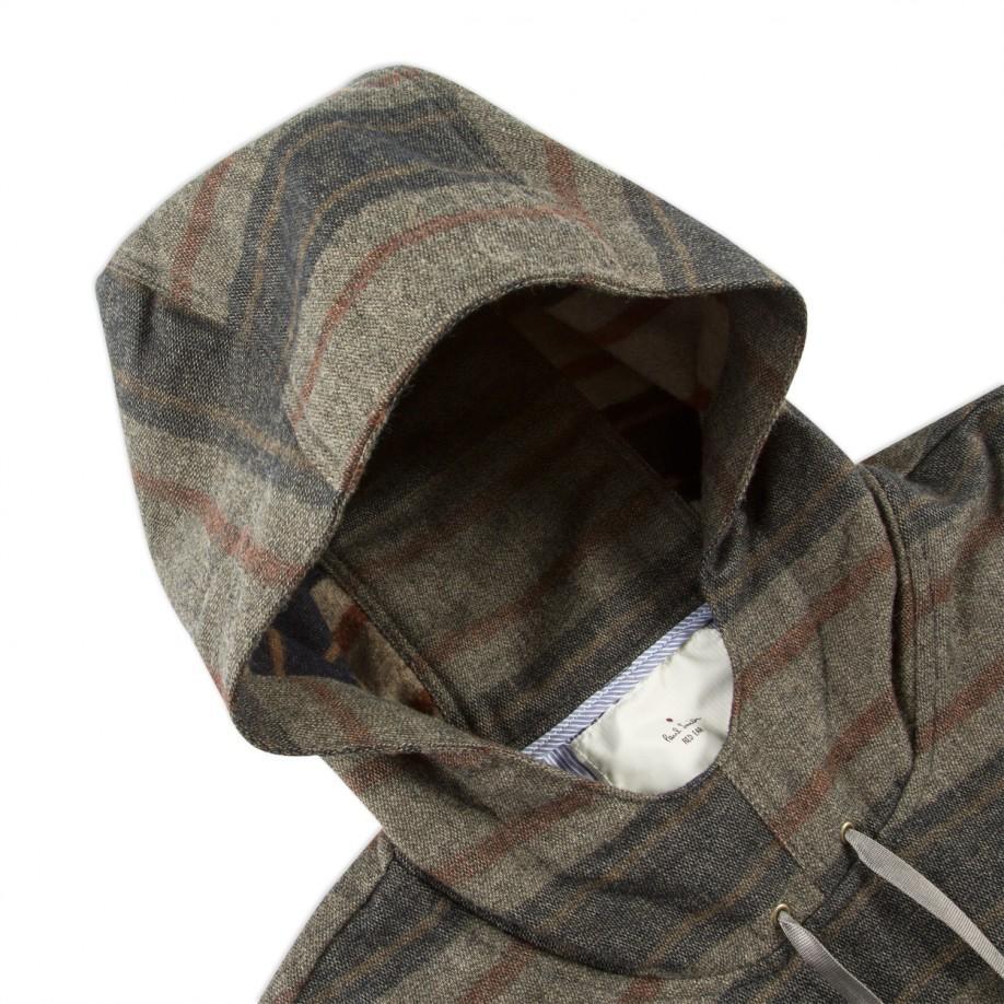 Paul smith Men's Wool-blend Striped Blanket Hoodie in Gray for Men ...