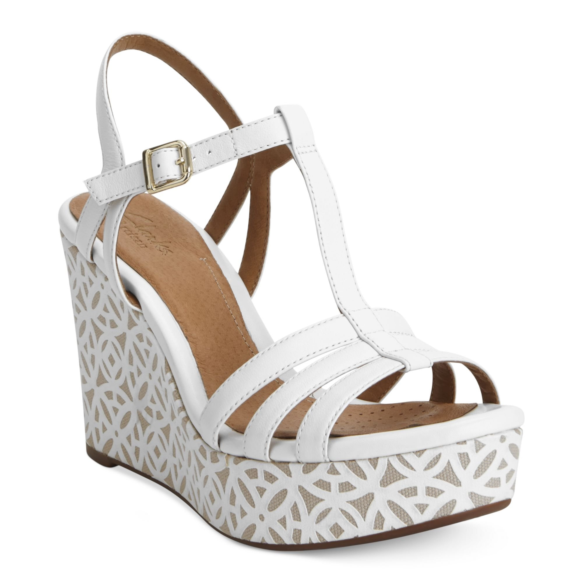 206e820006ba Lyst - Clarks Artisan By Amelia Avery Platform Wedge Sandals in White
