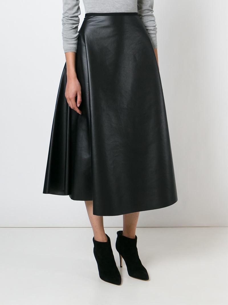 lanvin a line skirt in black lyst