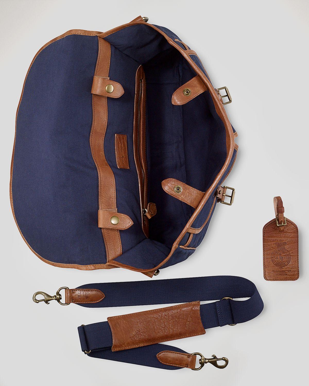 ba49e02c2b3e ... get lyst polo ralph lauren canvas messenger bag in blue for men 0b76d  32b16