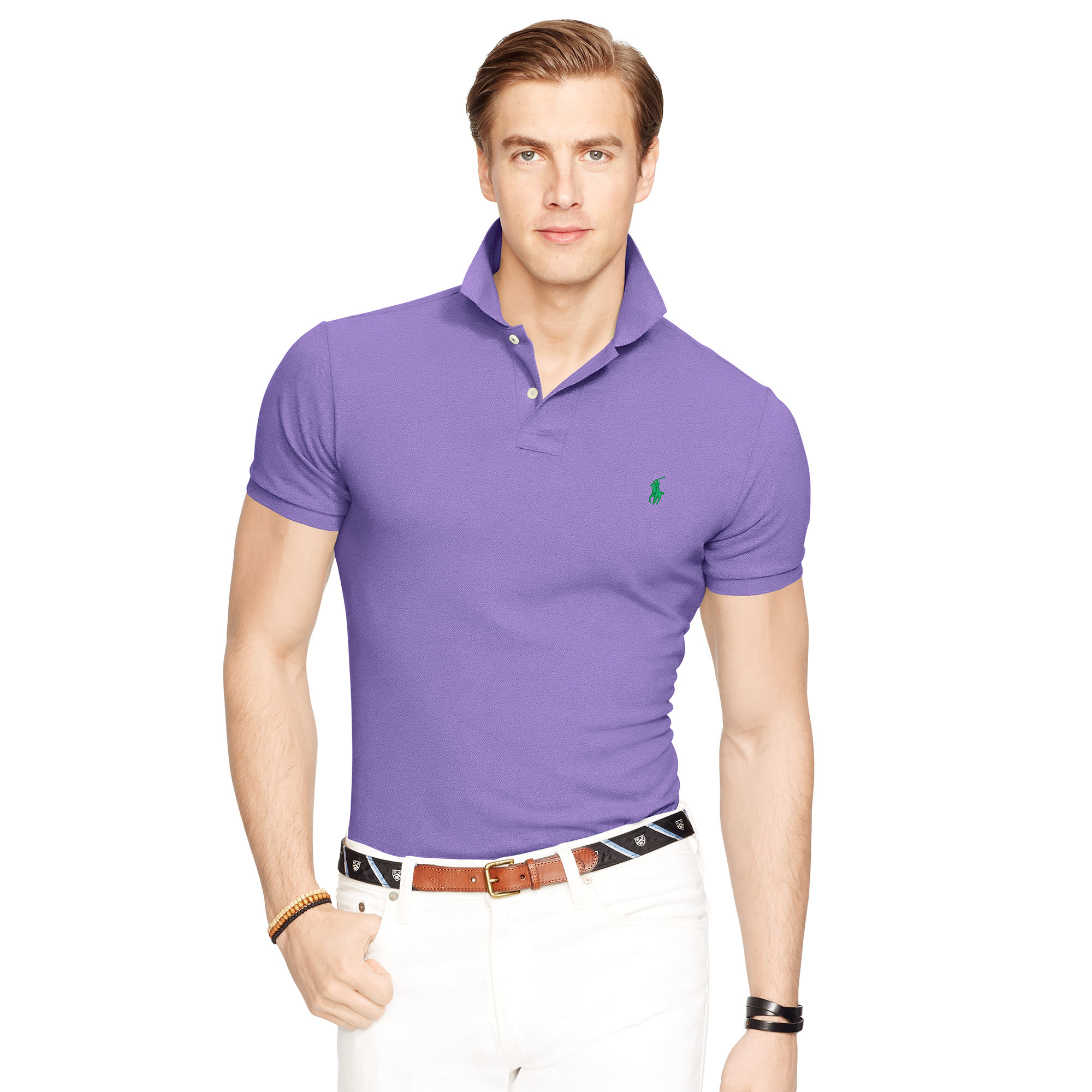 Purple And Gold Mens Polo Shirt Bcd Tofu House