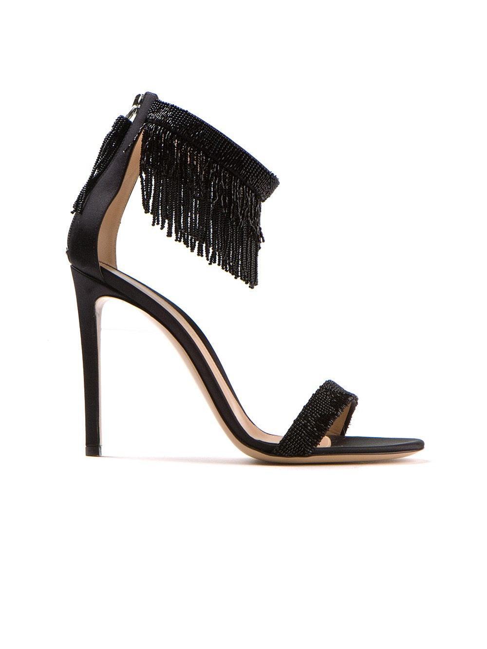 Gianvito Rossi Fringe Ankle-Tie Sandals tumblr sale online sale sneakernews b4vm0