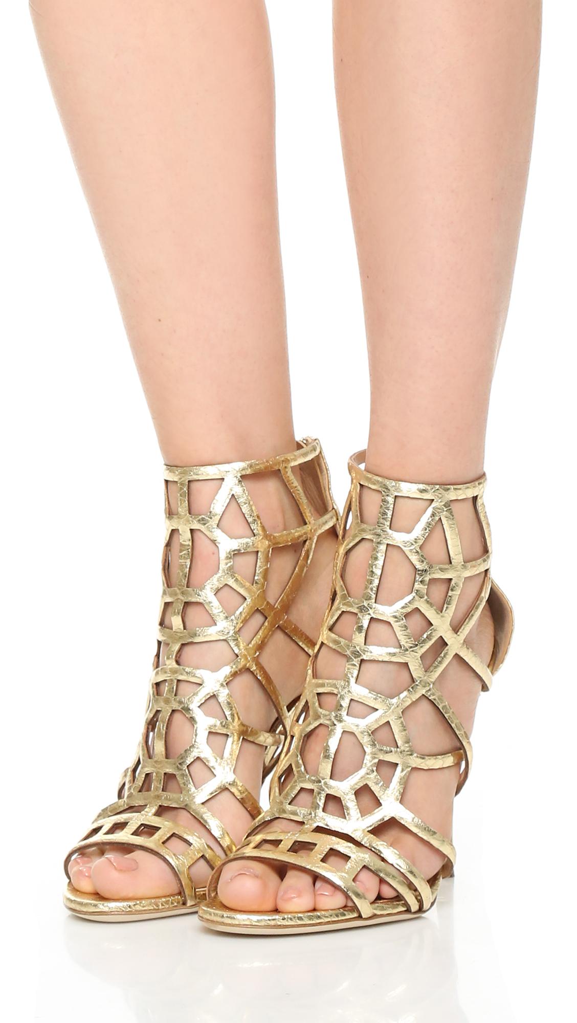 Sergio rossi Puzzle Sandals in Metallic | Lyst
