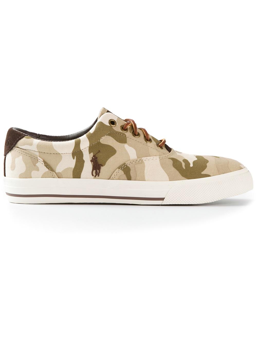 c880f1d710684 Polo Ralph Lauren 'Vaughn' Camouflage Sneaker in Natural for Men - Lyst