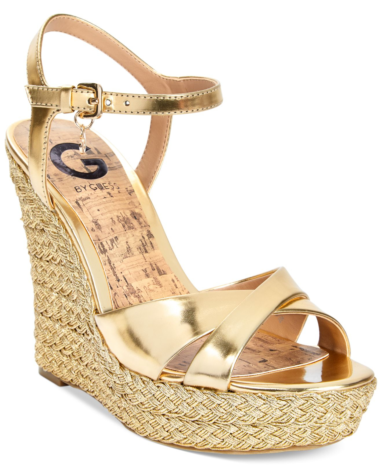 Espadrille G Wedge Metallic In Platform Debbra Sandals Cxeobd By Guess N0w8vmn
