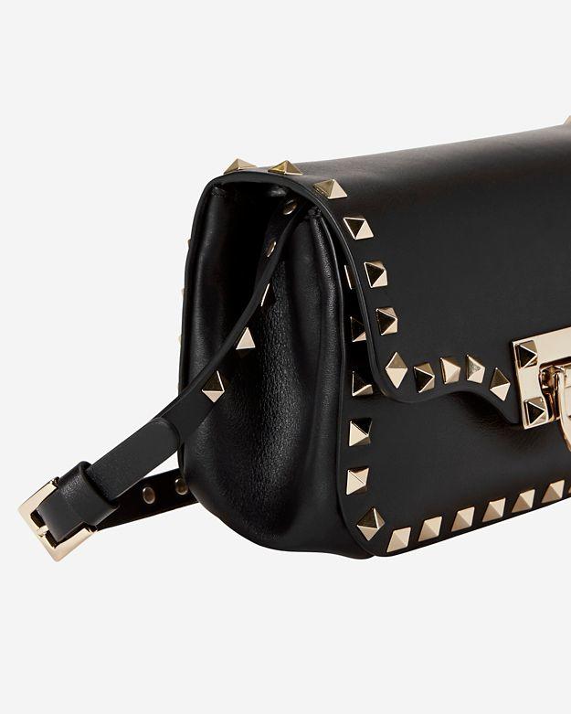 45482e16fb Valentino Rockstud Mini Flap Crossbody: Black in Black - Lyst
