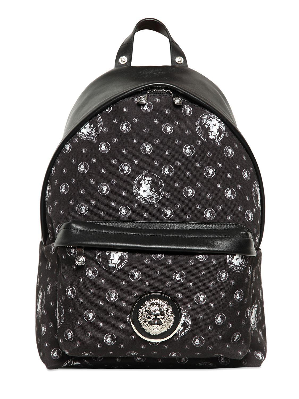 Versus logo print backpack - White nbD1nqm