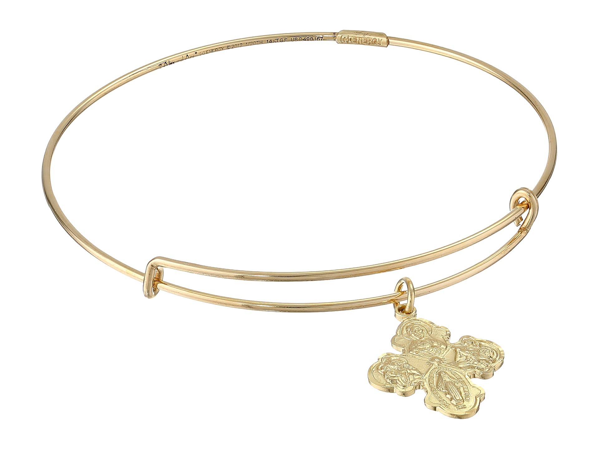 alex and ani four way cross small bracelet in gold lyst