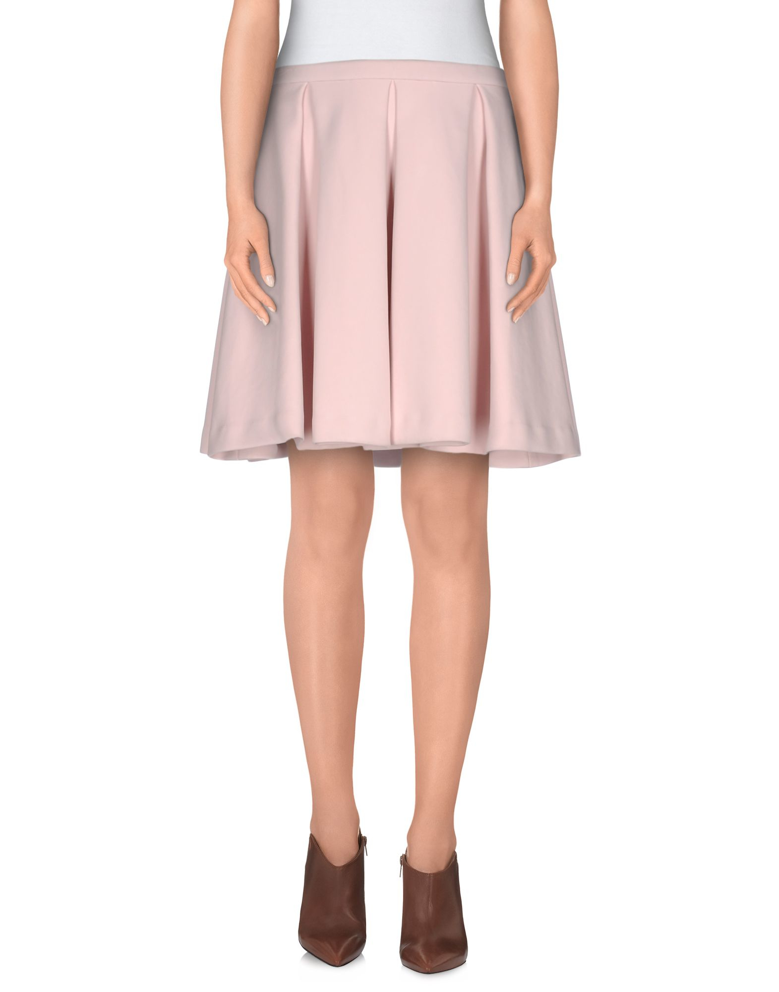 manoush knee length skirt in pink save 68 lyst