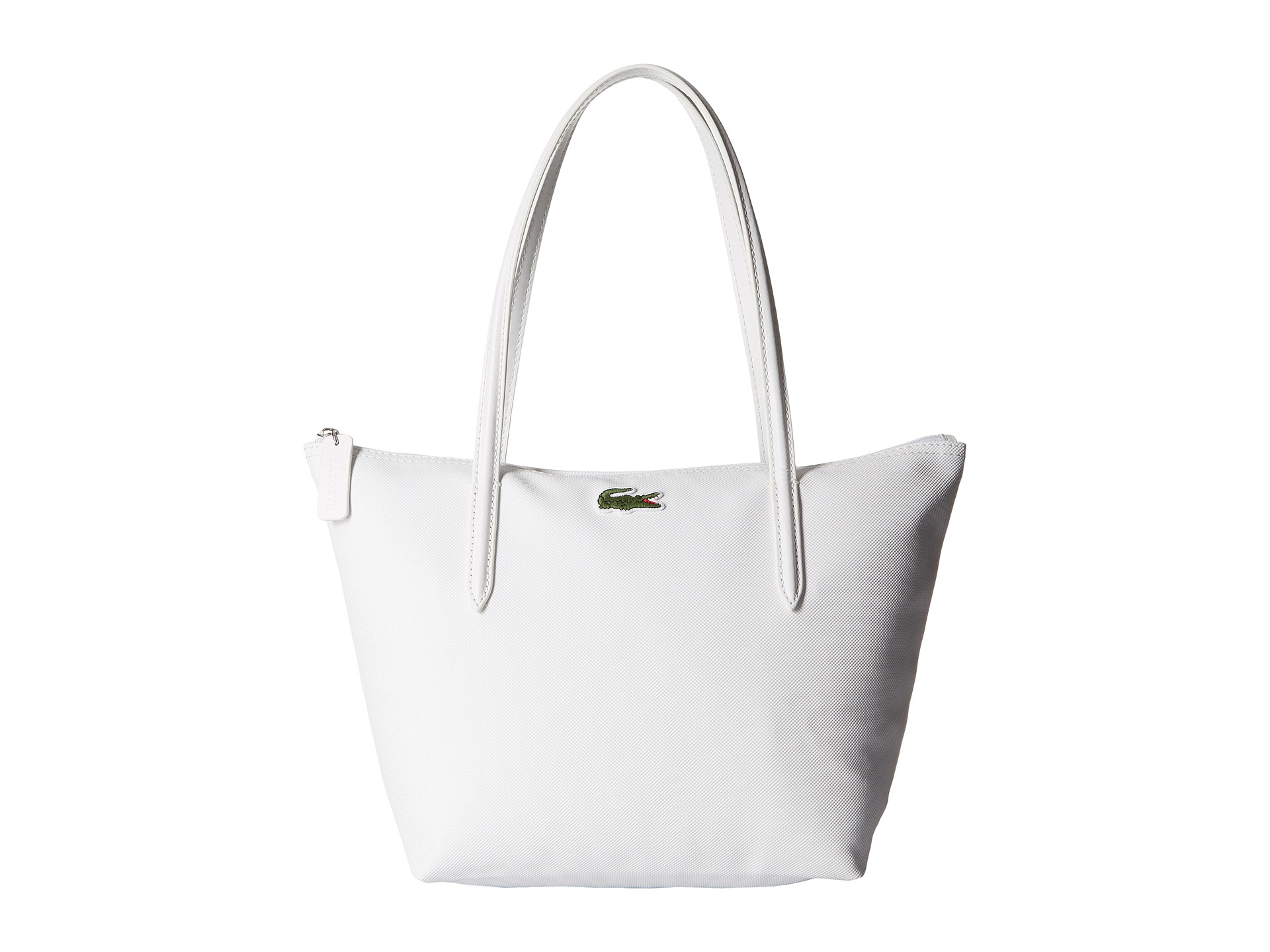 6abbb01a59a Lacoste L.12.12 Concept Medium Small Shopping Bag in White - Lyst