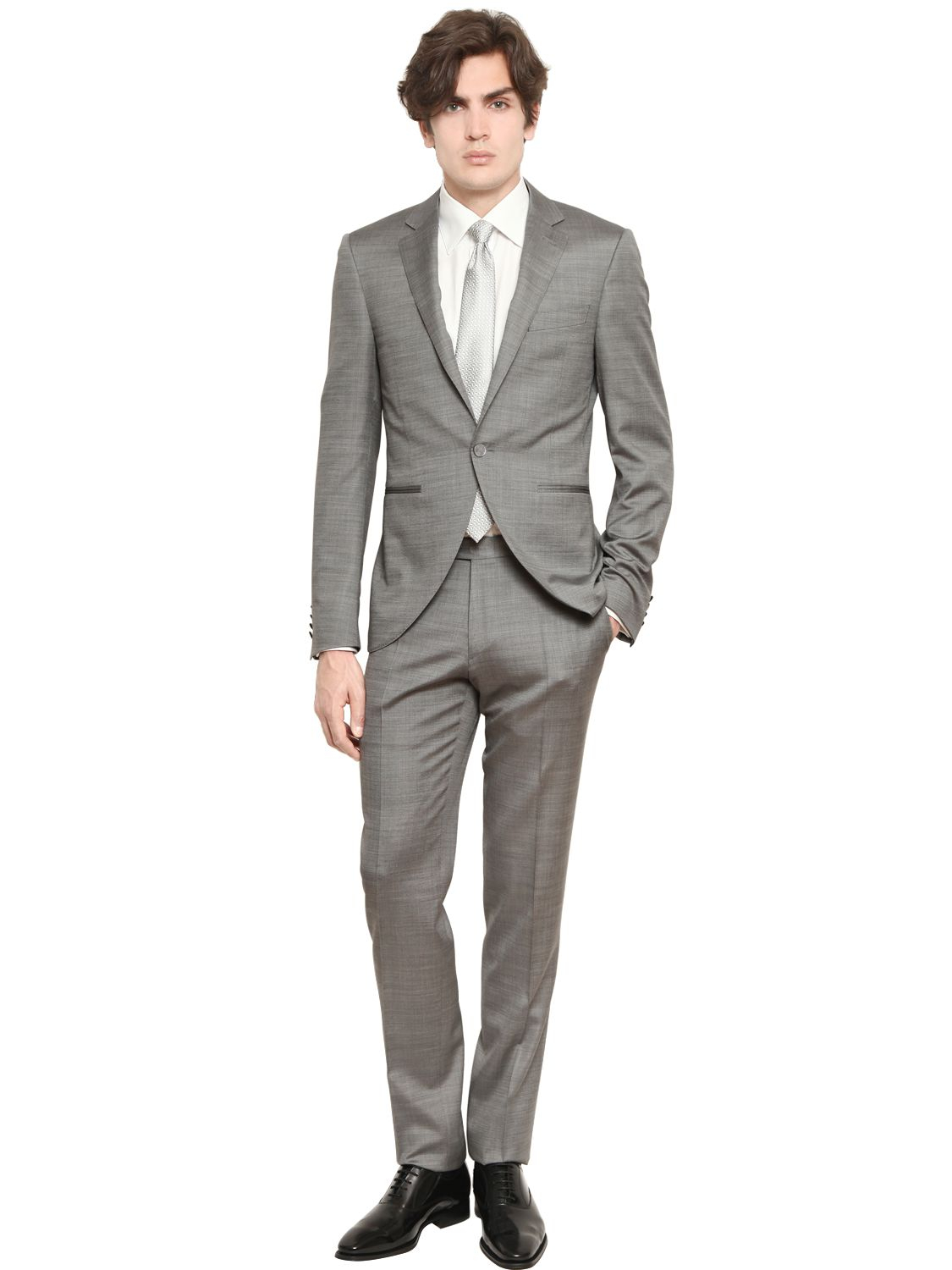 Canali Wool & Silk Blend Short Tight Shape Suit in Gray for Men | Lyst