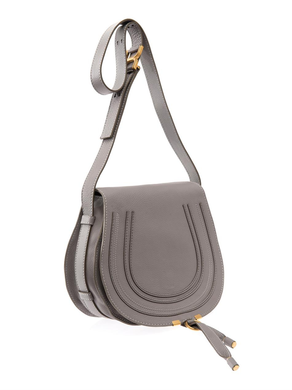 chlo marcie medium crossbody bag in gray grey lyst. Black Bedroom Furniture Sets. Home Design Ideas