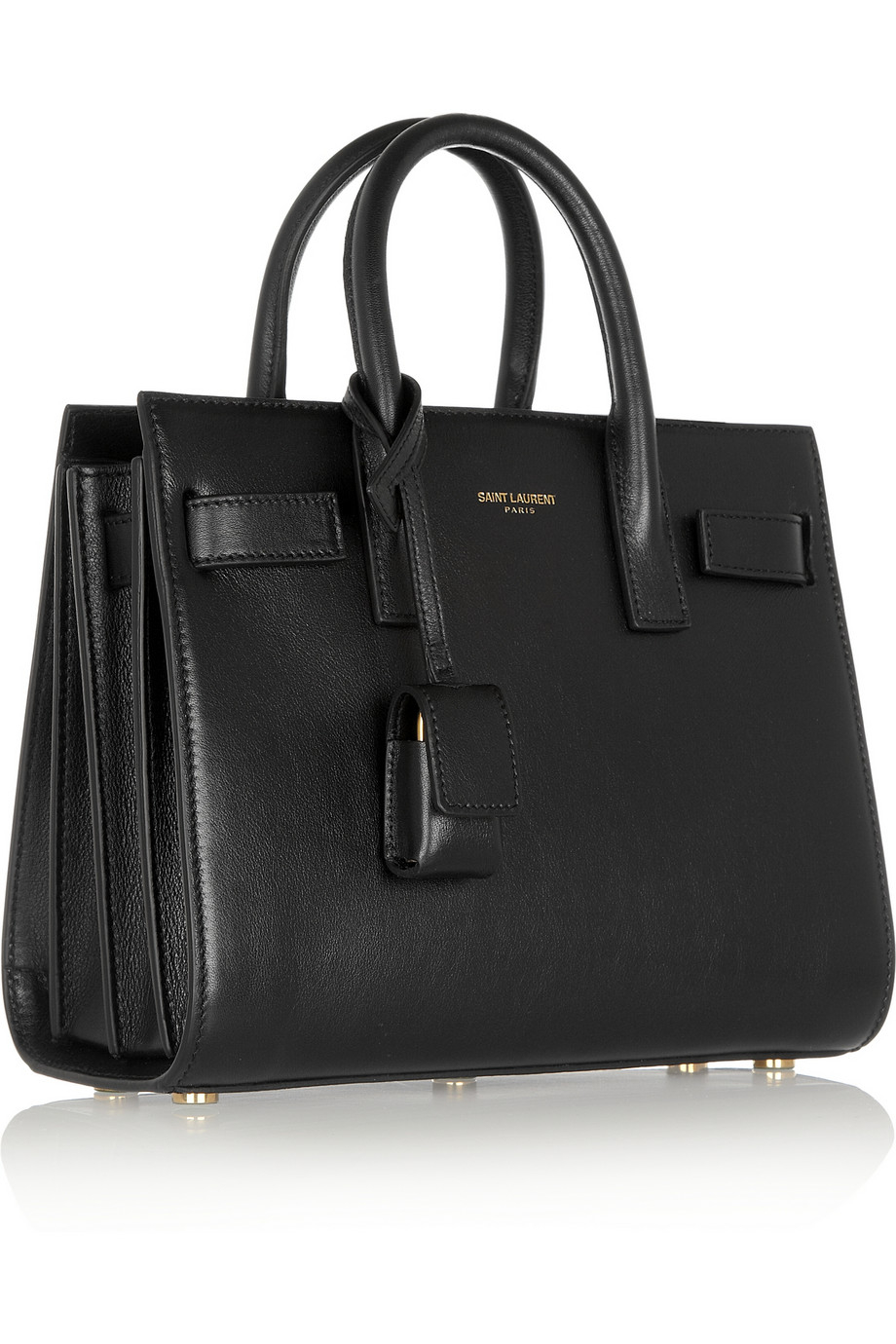 saint laurent sac de jour nano leather tote in black lyst. Black Bedroom Furniture Sets. Home Design Ideas