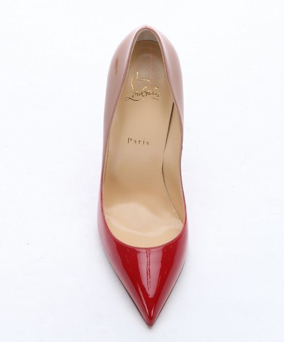 Christian louboutin Red And Nude Patent Leather \u0026#39;pigalle Follies ...
