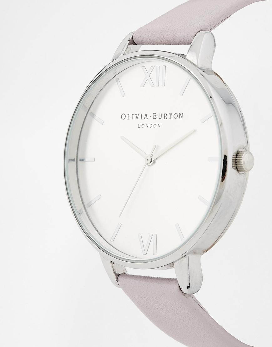c7f2a3e60 Olivia Burton Big Dial Grey Lilac Watch in Purple - Lyst