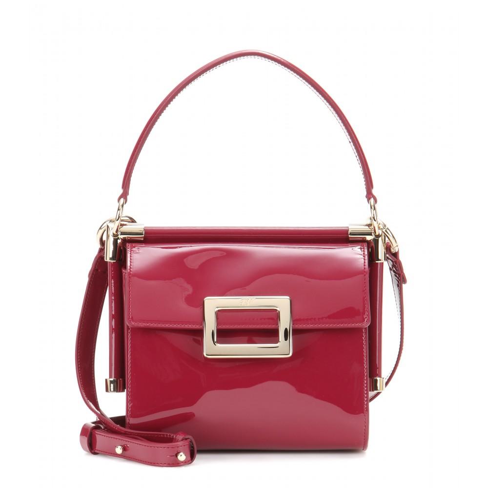 f44371a573e Roger Vivier Miss Viv Mini Patent-Leather Shoulder Bag in Purple - Lyst