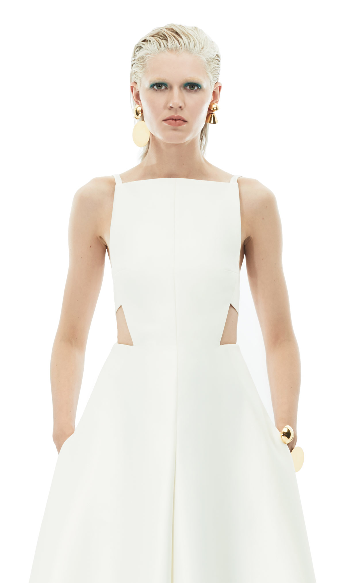 f74c2dcab68 Lyst - Solace London Rozalla Jumpsuit Ivory in Yellow