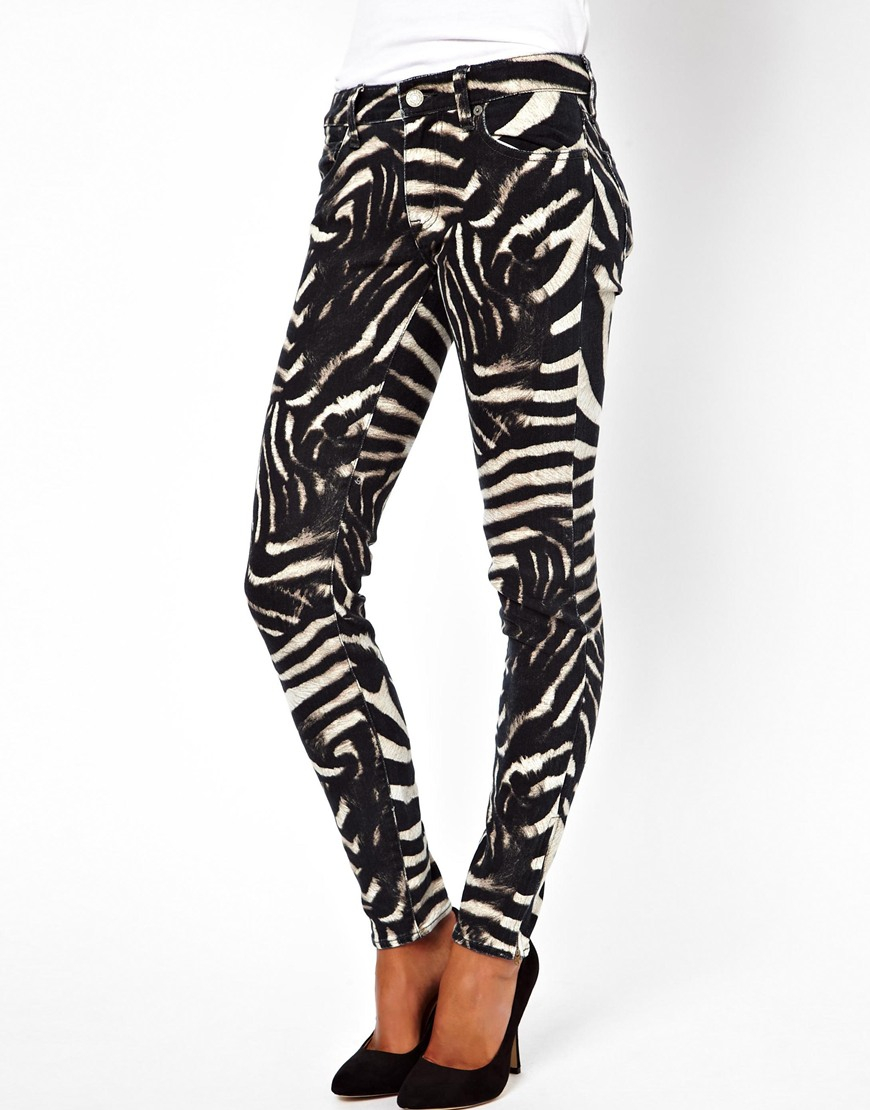 Ralph lauren Skinny Jeans in Zebra Print | Lyst
