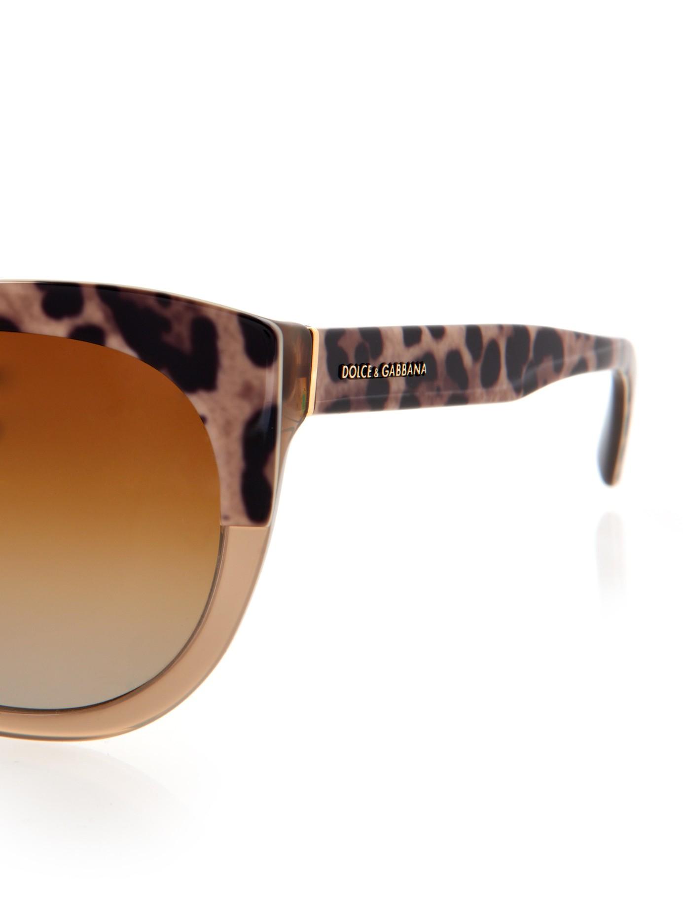 Dolce And Gabbana Gold Frame Sunglasses : Dolce & gabbana Half Leopard-Print Round Framed Sunglasses ...