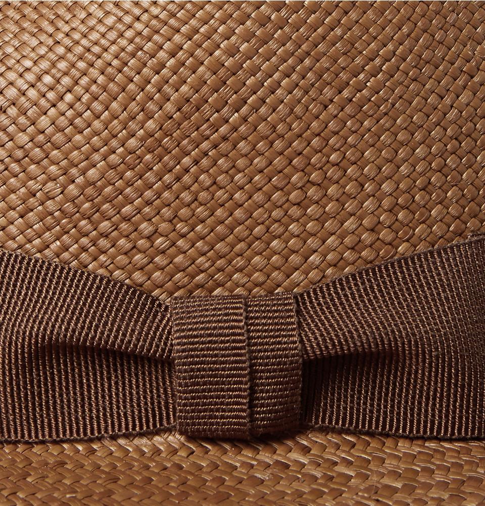 Lyst Loro Piana Toquilla Straw Panama Hat In Brown For Men