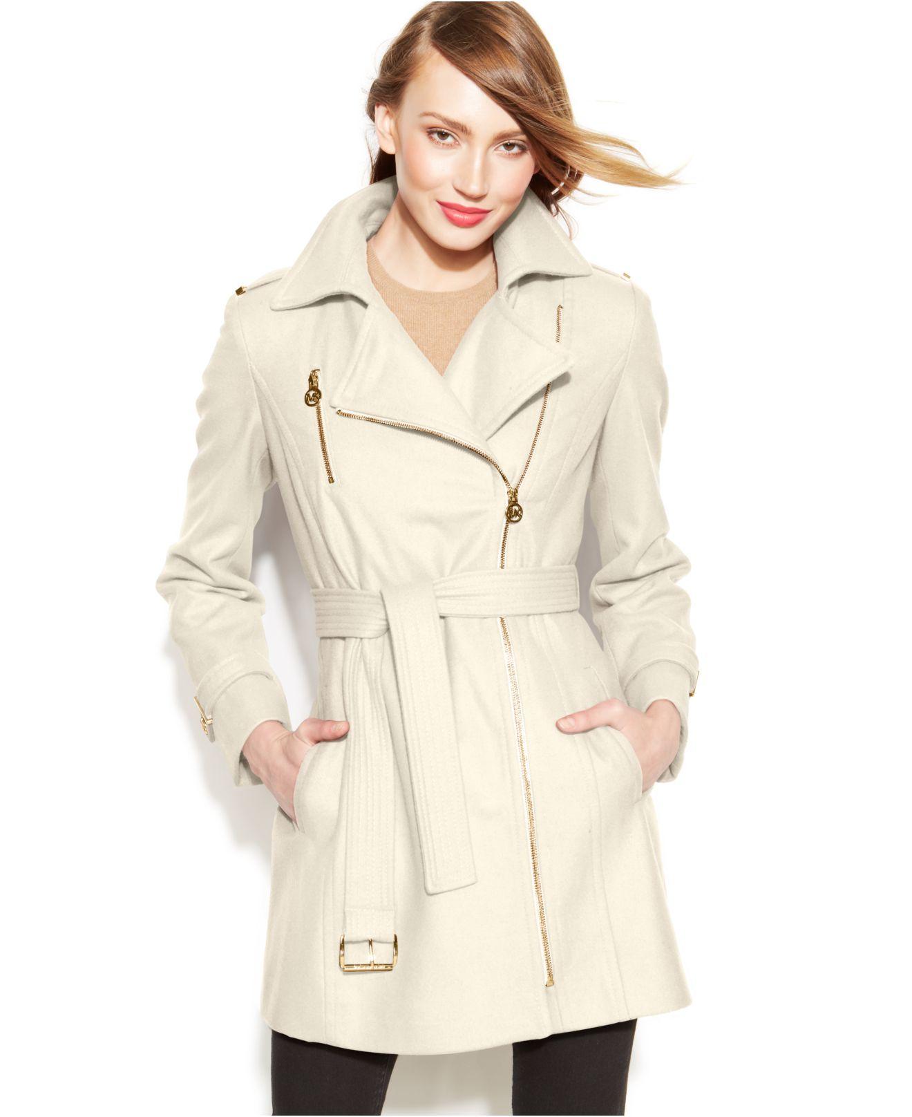 comfortable feel purchase genuine pretty cheap Michael Kors Michael Petite Asymmetrical Belted Walker Coat ...