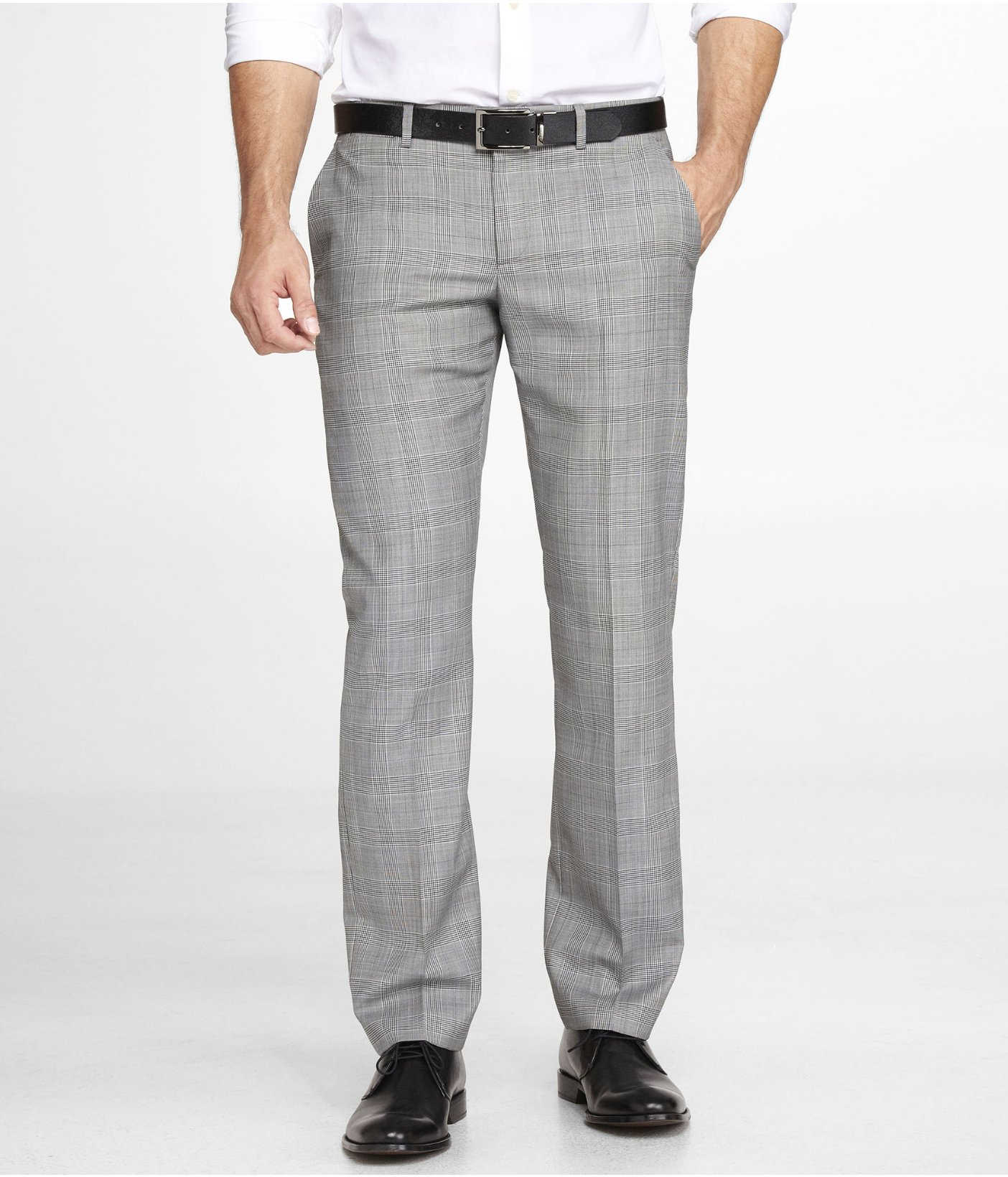 Express Plaid Photographer Suit Pant in Gray for Men - Lyst