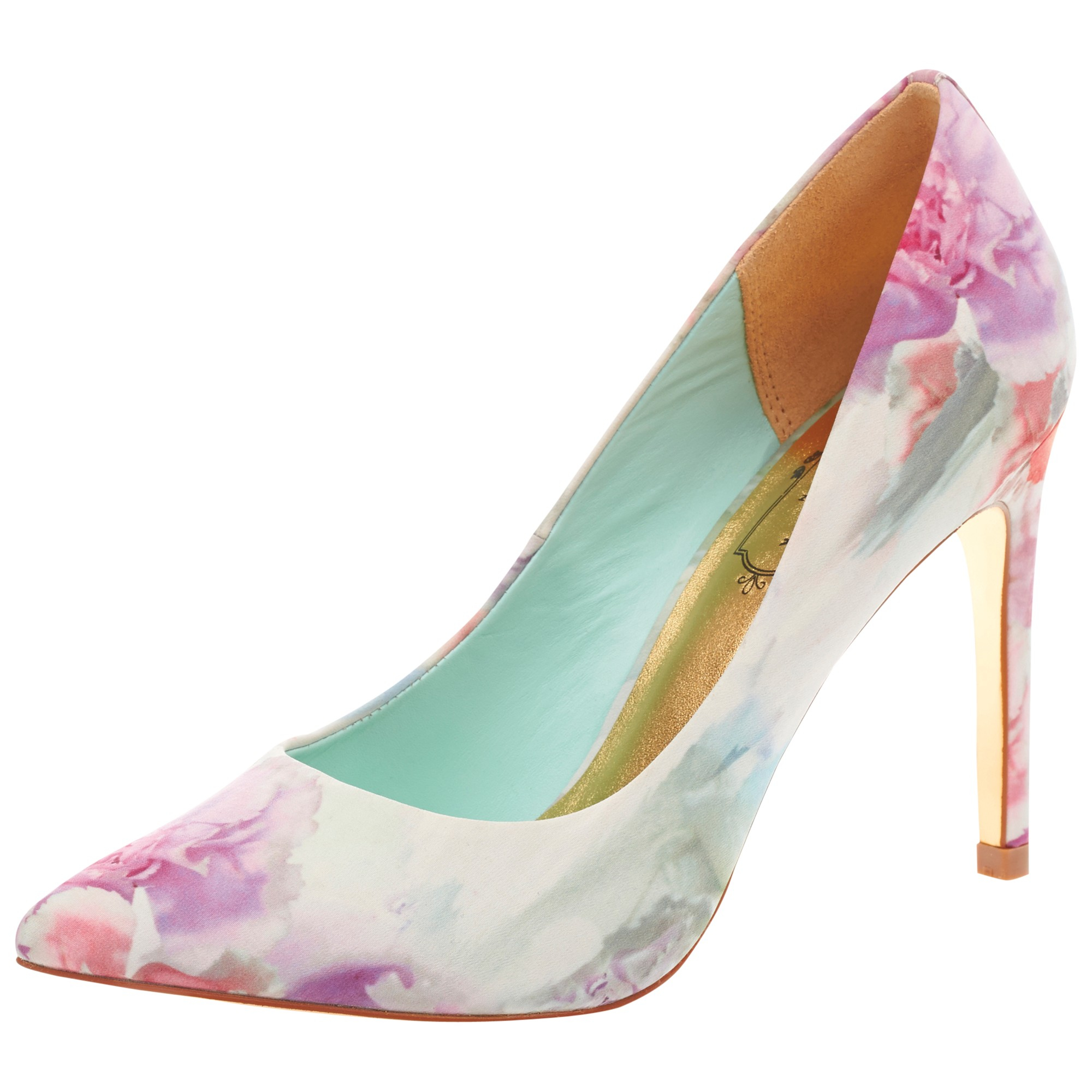 35f00e7593f8 Ted Baker Luceey Floral Print Court Shoes in Pink - Lyst