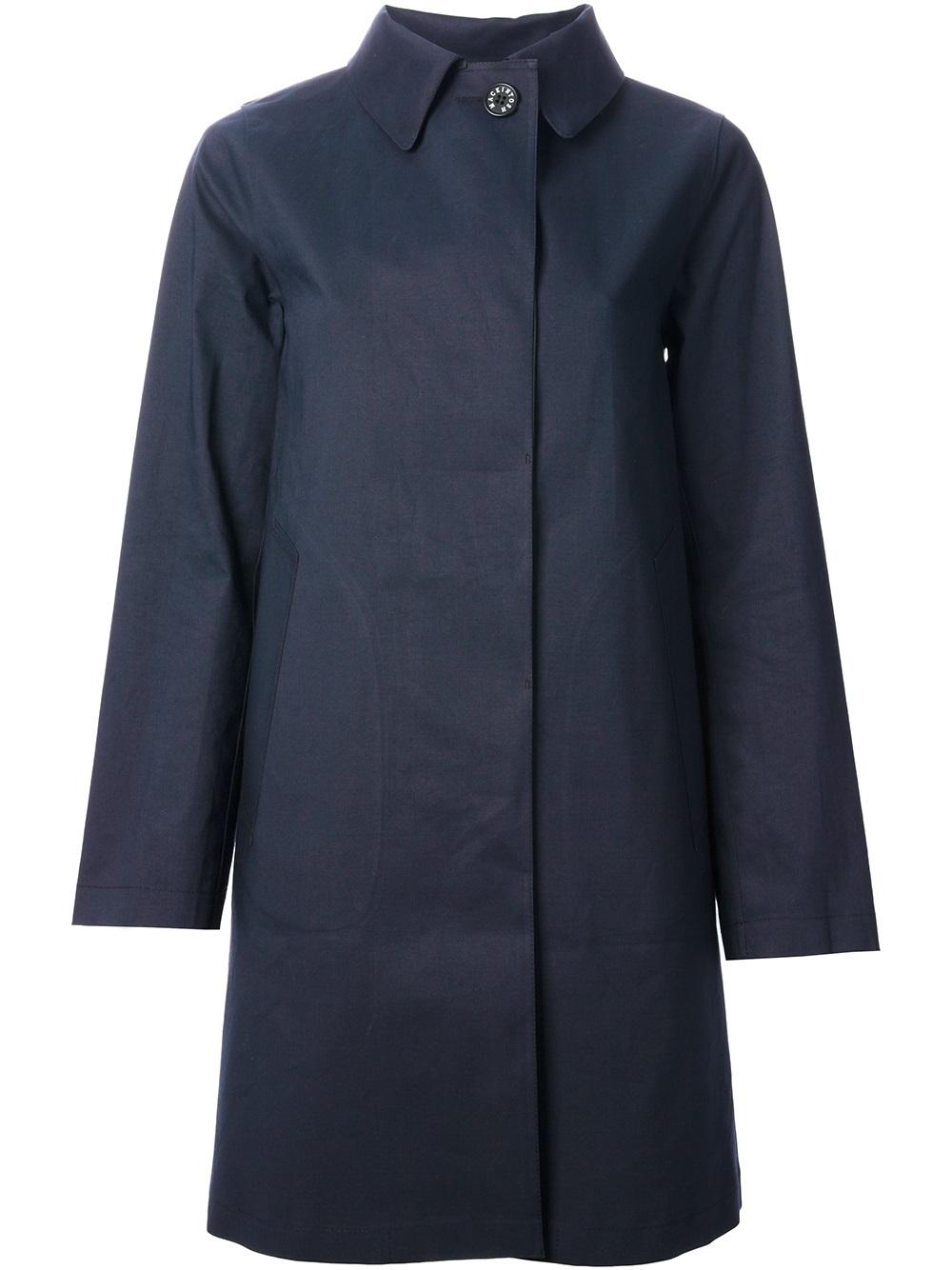 Mackintosh Banton Coat in Blue - Lyst
